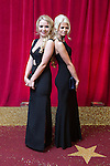 © Licensed to London News Pictures . 16/05/2015 .  The Palace Hotel , Manchester , UK . Lorna Fitzgerald and Danielle Harold . The red carpet at the 2015 British Soap Awards , The Palace Hotel , Oxford Road , Manchester . Photo credit : Joel Goodman/LNP
