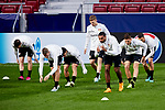 Players of Bayer 04 Leverkusen during the Training Session before the UEFA Champions League match between Atletico de Madrid and Bayer 04 Leverkusen at Wanda Metropolitano Stadium in Madrid, Spain. October 21, 2019. (ALTERPHOTOS/A. Perez Meca)