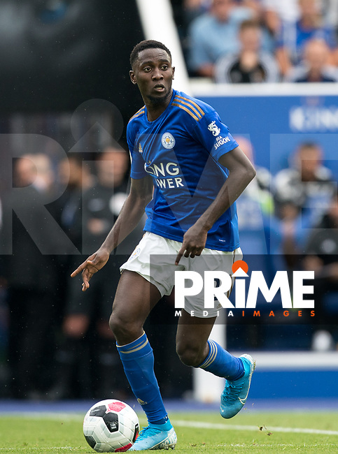 Wilfred Ndidi of Leicester City during the Premier League match between Leicester City and Wolverhampton Wanderers at the King Power Stadium, Leicester, England on 10 August 2019. Photo by Andy Rowland.