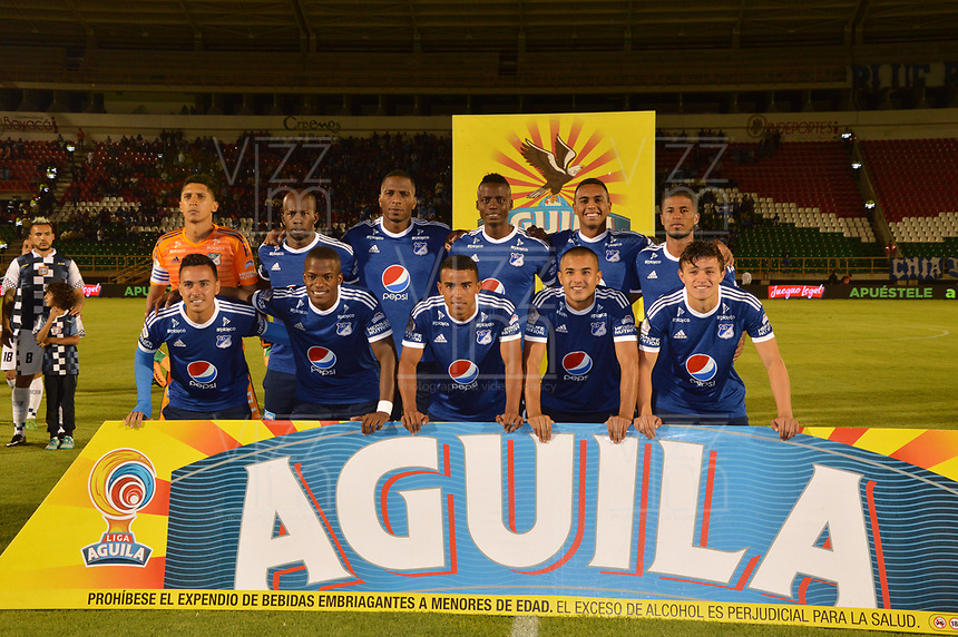 TUNJA- COLOMBIA, 04-02-2018:Formación de Millonarios ante Boyacá Chicó,  partido entre el Boyacá Chicó  y Millonarios   por la fecha 1 de la Liga Águila II 2018 jugado en el estadio La Independencia. / Team of Millonarios against Boyaca Chico during match between Boyaca Chico and Millonarios  for the date 1 of the Aguila League I 2018 played at La Independencia stadium. Photo: VizzorImage/ José Miguel Palencia / Contribuidor