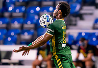 13th July 2020, Orlando, Florida, USA;  Portland Timbers forward Jeremy Ebobisse (17) receives a pass during the MLS Is Back Tournament between the LA Galaxy versus Portland Timbers on July 13, 2020 at the ESPN Wide World of Sports, Orlando FL.