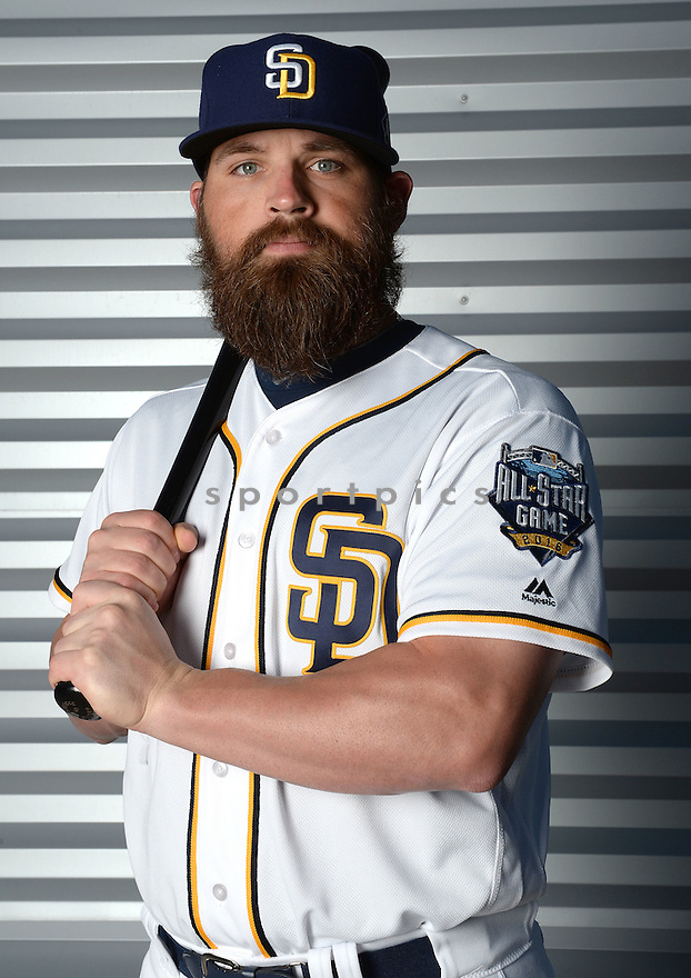 San Diego Padres Derek Norris (3) during photo day on February 26, 2016 in Peoria, AZ.