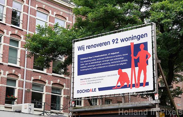 Nederland Amsterdam 2018 . De Kinkerbuurt. Woningcorporatie Rochdale renoveert 92 woningen . Foto Berlinda van Dam / Hollandse Hoogte
