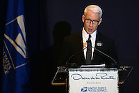 www.acepixs.com<br /> February 16, 2017  New York City<br /> <br /> Anderson Cooper at the press conference for The Oscar de la Renta Forever Stamp First-Day-of-Issue Stamp Dedication Ceremony, Vanderbilt Hall at Grand Central Station on February 16, 2017 in New York City.<br /> <br /> Credit: Kristin Callahan/ACE Pictures<br /> <br /> <br /> Tel: 646 769 0430<br /> Email: info@acepixs.com
