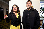 """Simon Dumenco, a media columnist for Advertising Age,  with Maria Popova, founder of Brain Pickings, at the SXSW interactive conference in Austin, Texas. Popova participated in a panel called """"The Curators and the Curated"""" about online content production."""