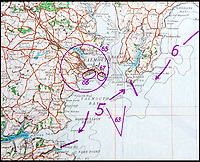 BNPS.co.uk (01202 558833)<br /> Pic: PhilYeomans/BNPS<br /> <br /> Mapped - Falmouth.<br /> <br /> Chilling - Hitlers 'How to' guide to the invasion of Britain.<br /> <br /> A remarkably detailed invasion plan pack of Britain has been unearthed to reveal how our genteel seaside resorts would have been in the front line had Hitler got his way in World War Two.<br /> <br /> The Operation Sea Lion documents, which were issued to German military headquarters' on August 1, 1940, contain numerous maps and photos of every town on the south coast.<br /> <br /> They provide a chilling reminder of how well prepared a German invading force would have been had the Luftwaffe not been rebuffed by The Few in the Battle of Britain.<br /> <br /> There is a large selection of black and white photos of seaside resorts and notable landmarks stretching all the way from Land's End in Cornwall to Broadstairs in Kent.<br /> <br /> The pack also features a map of Hastings, raising the possibility that a second battle could have been staged there, almost 900 years after the invading William The Conqueror triumphed in 1066.