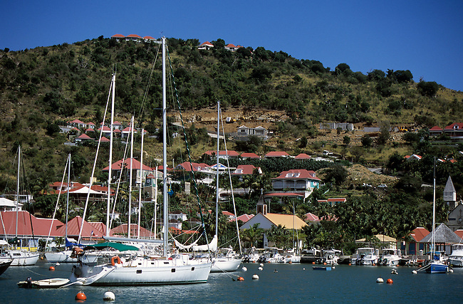 Saint-Barthelemy. Gustavia. *** Gustavia, Saint-Barthelemy island.
