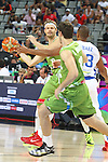 06.09.2014. Barcelona, Spain. 2014 FIBA Basketball World Cup, round of 16. Picture show M. Zupan  in action during game between Dominican Republic  v Slovenia  at Palau St. Jordi