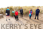 The Cronin family, Tom, Molly, Bernie, Niamh and Denis from Killarney ready to have a stroll on Inch Beach on Sunday.