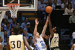08 November 2008: Pembroke's Jason Smith (23) shoots over North Carolina's Tyler Zeller (44). The University of North Carolina Tarheels defeated the University of North Carolina at Pembroke Braves 102-62 at the Dean E. Smith Center in Chapel Hill, NC in an NCAA exhibition basketball game.