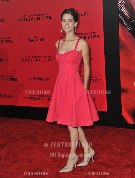 Lindsy Fonseca at the US premiere of &quot;The Hunger Games: Catching Fire&quot; at the Nokia Theatre LA Live.<br /> November 18, 2013  Los Angeles, CA<br /> Picture: Paul Smith / Featureflash