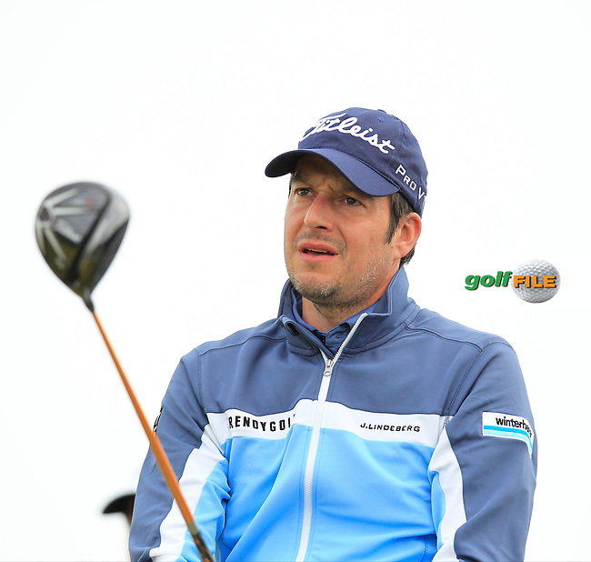 Simon THORNTON (IRL) tees off the 8th tee during Saturday's Round 3 of the 2015 Dubai Duty Free Irish Open, Royal County Down Golf Club, Newcastle Co Down, Northern Ireland 5/30/2015<br /> Picture Eoin Clarke, www.golffile.ie