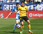 CD Leganes' Diego Rico (l) and Malaga CF's Pablo Fornals during La Liga match. February 25,2017. (ALTERPHOTOS/Acero)