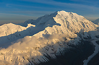 North Face Of Mt. Denali With Carpe And Pioneer Ridge On The Left, Peter's Glacier On The Right, Denali National Park, Interior, Alaska.