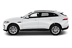 Car Driver side profile view of a 2019 Jaguar F-Pace Prestige 5 Door SUV Side View