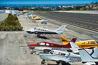 Santa, Monica, CA, Airport, Dramatic, Clouds, Airplanes,  California,