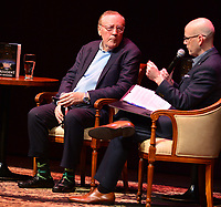 "FORT LAUDERDALE, FL - JUNE 12: Author James Patterson in a conversation about his new book "" The President is Missing"" hosted by author Brad Meltzer at the Broward Center Au-Rene Theater on June 12, 2018 in Fort Lauderdale, Florida.  Credit: MPI10 / MediaPunch"