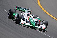 Jun. 20, 2008; Newton, IA, USA; IRL driver Tony Kanaan during practice for the Iowa Corn Indy 250 at the Iowa Speedway. Mandatory Credit: Mark J. Rebilas-