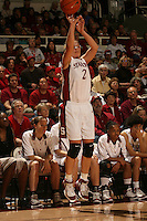 14 January 2006: Krista Rappahahn during Stanford's 87-75 win over the California Golden Bears at Maples Pavilion in Stanford, CA.