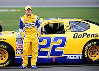 Oct. 3, 2009; Kansas City, KS, USA; NASCAR Nationwide Series driver Parker Kligerman during qualifying for the Kansas Lottery 300 at Kansas Speedway. Mandatory Credit: Mark J. Rebilas-