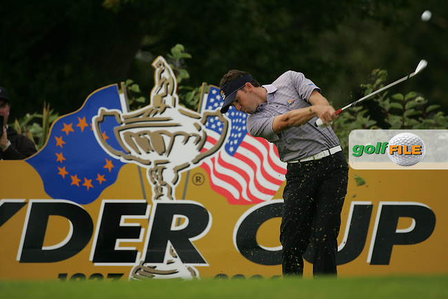 23rd September, 2006. European Ryder Cup Team player Sergio Garcia teeing off on the 13th tee box during the afternoon foursomes session of the second day of the 2006 Ryder Cup at the K Club in Straffan, County Kildare in the Republic of Ireland..Photo: Fran Caffrey/ Newsfile.