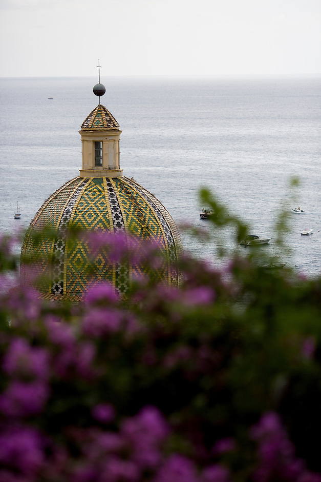 The Chiesa di Santa Maria Assunta is seen on Sunday, Sept. 20, 2015, in Positano, Italy. (Photo by James Brosher)
