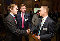Pictured from left are Reece and Andrew Garner of Forward Trade Contracts meeting Paul Pownall of Tenon