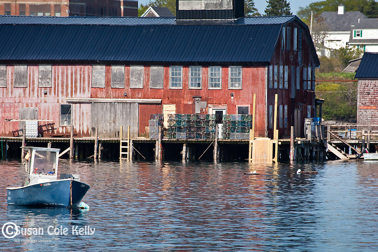 The fishing village of Jonesport, Downeast, ME, USA