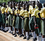 Catholic school children in Southern Sudan participate in a procession through the streets of Juba on November 20 to pray for a peaceful January 2011 referendum on secession from the north of the country. The independence vote has widespread support throughout Southern Sudan, including among Christians. NOTE: In July 2011 Southern Sudan became the independent country of South Sudan.