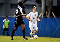 Florida International University men's soccer player Anthony Hobbs (16) plays against Florida Atlantic University on August 28, 2011 at Miami, Florida.  The game ended in a 1-1 overtime tie. .