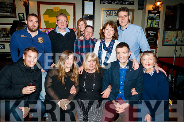 Anne Dalgarno, (daughter of Mary O'Donoghue, Boherbee, Tralee) and England, who celebrated her 60th birthday, with family and friends in Turners Bar, Tralee, on Saturday night last, front l-r: Sean Delgarno, Beth Delgarno, Anne Dalgarno, James O'Donoghue and Mary O'Donoghue. Back l-r: Paul Dalgarno, Peter O'Donoghue, Julie Ramsay Rob Ramsay, Brenda Crozier and Joe Dalgarno.
