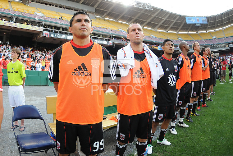 DC United bench.   DC United defeated Chivas USA 3-2 at RFK Stadium, Saturday  May 29, 2010.