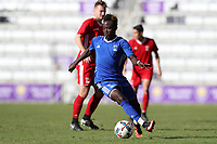Orlando, Florida - Monday January 15, 2018: Edward Opoku. Match Day 2 of the 2018 adidas MLS Player Combine was held Orlando City Stadium.