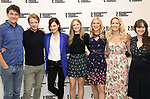 Gabriel Ebert, Matthew James Thomas, Elizabeth McGovern, Anna Baryshnikov, Charlotte Parry, Anna Camp, and Brooke Bloom attends the press photo call for the Roundabout Theatre Company's production of  'Time and the Conways' at The Roundabout Theatre Studios on August 24, 2017 in New York City.