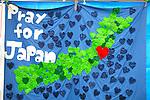 """Minamisanriku, Miyagi, Japan - Messages from volunteers at Minamisanriku Volunteer Center, one year after the tsunami. The Latin group of volunteers """"Todos con Japon"""" visits Miyagi area during this Golden Week."""