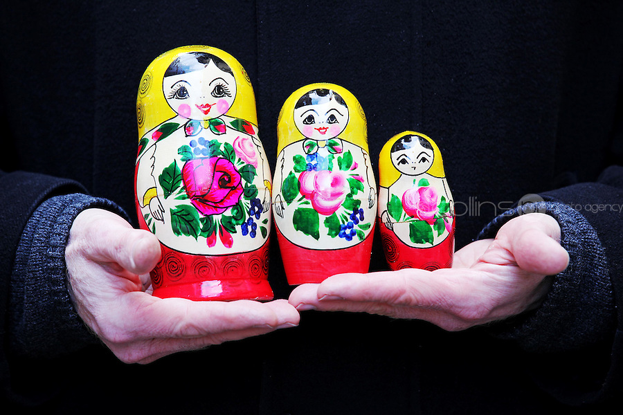 NO REPRO FEE. 6/3/2011. RUSSIAN CULTURAL FESTIVAL. Babushka dolls at the Festival of Russian Culture family day at Cows Lane , Temple Bar, Dublin. Picture James Horan/Collins Photos
