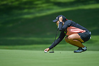 Moriya Jutanugarn (THA) lines up her putt on 1 during round 1 of the U.S. Women's Open Championship, Shoal Creek Country Club, at Birmingham, Alabama, USA. 5/31/2018.<br /> Picture: Golffile | Ken Murray<br /> <br /> All photo usage must carry mandatory copyright credit (&copy; Golffile | Ken Murray)