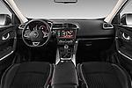 Stock photo of straight dashboard view of 2015 Renault Kadjar Bose Edition 5 Door Suv 2WD Dashboard