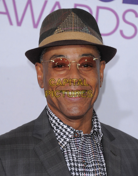 Giancarlo Esposito.The 2013 People's Choice Awards held at Nokia Live in Los Angeles, California 9th January 2013                                                                   .headshot portrait grey gray hat tinted glasses houndstooth dogtooth print shirt .CAP/DVS.©DVS/Capital Pictures.