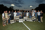 Members of the Wake Forest Demon Deacons 2007 men's soccer National Championship team were on hand to celebrate the 10th Anniversary of winning the College Cup  at Spry Soccer Stadium on September 16, 2017 in Winston-Salem, North Carolina.  (Brian Westerholt/Sports On Film)