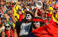 Fans during day two of the 2016 HSBC Wellington Sevens at Westpac Stadium, Wellington, New Zealand on Saturday, 30 January 2016. Photo: Simon Watts / lintottphoto.co.nz