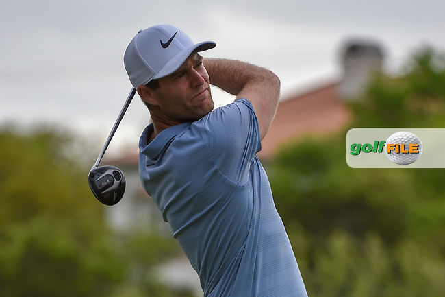 Lucas Bjerregaard (DEN) watches his tee shot on 3 during day 4 of the WGC Dell Match Play, at the Austin Country Club, Austin, Texas, USA. 3/30/2019.<br /> Picture: Golffile | Ken Murray<br /> <br /> <br /> All photo usage must carry mandatory copyright credit (© Golffile | Ken Murray)