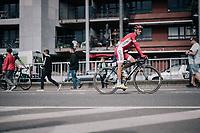 Daniel Navarro (ESP/Cofidis) rolling to the teambus after finishing<br /> <br /> 104th Tour de France 2017<br /> Stage 2 - Düsseldorf › Liège (203.5km)
