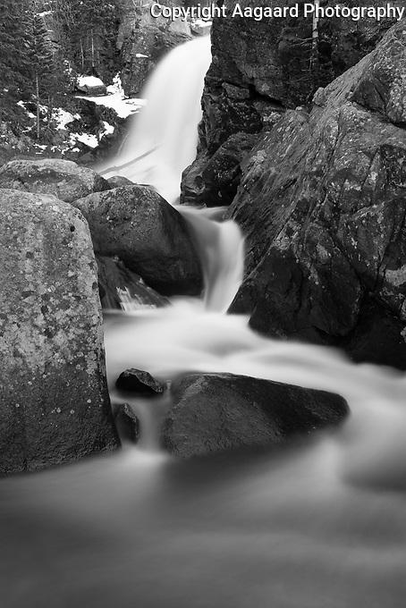 Alberta Falls, Rocky Mountain National Park (original in color)