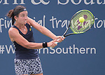 August 17,2017:   Anastasia Sevastova (LAT) loses to Simona Halep (ROU) 6-4, 6-3, at the Western & Southern Open being played at Lindner Family Tennis Center in Mason, Ohio.  ©Leslie Billman/Tennisclix/CSM