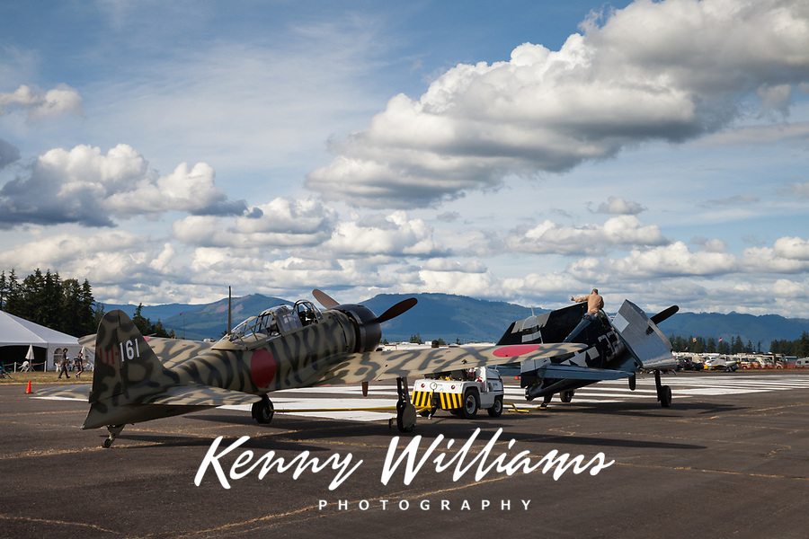 Mitsubishi A6M3-22 Reisen, Japanese Zero Fighter Aircraft, Arlington Fly-In 2016, WA, USA.