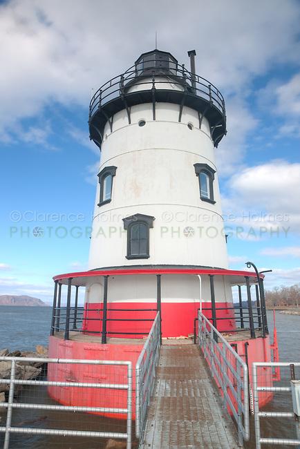 Tarrytown Lighthouse, on the Hudson River near the village of Sleepy Hollow, New York.
