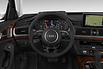 Car pictures of steering wheel view of a 2017 Audi A6 Prestige 4 Door Sedan