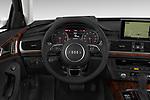 Car pictures of steering wheel view of a 2017 Audi A6 Prestige 4 Door Sedan