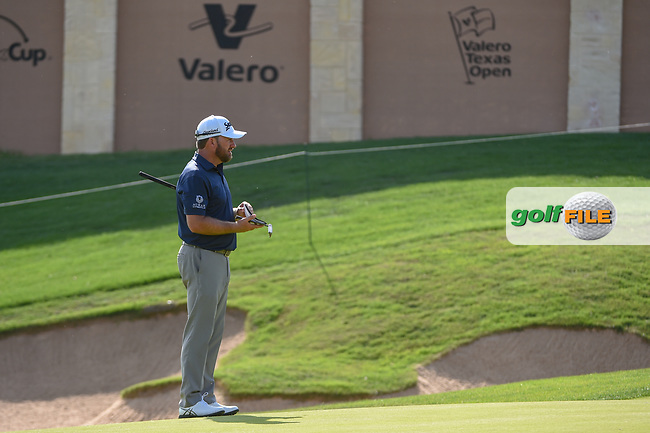 Graeme McDowell (NIR) looks over his putt on 16 during day 1 of the Valero Texas Open, at the TPC San Antonio Oaks Course, San Antonio, Texas, USA. 4/4/2019.<br /> Picture: Golffile   Ken Murray<br /> <br /> <br /> All photo usage must carry mandatory copyright credit (© Golffile   Ken Murray)